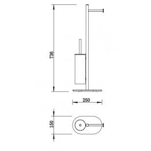 Отдельностоящий держатель щетки и бумаги Devit ART 3565140B черный матовый