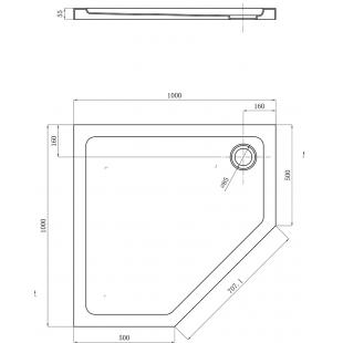 Душевой поддон Devit Comfort 100х100 FTR0223