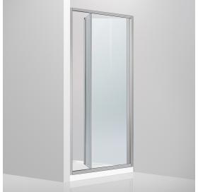 Душевая дверь Devit Fresh FEN9210 раздвижная, би-фолд - 100*190 - хром/прозрачное стекло