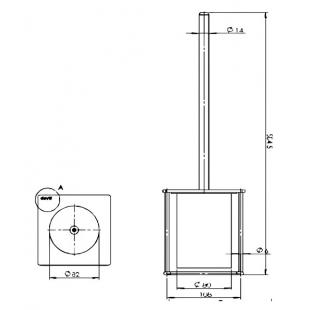 Ершик туалетный Devit UP 7060120B черный матовый