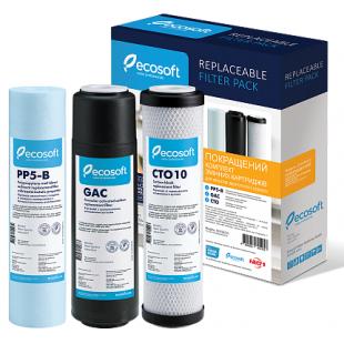 Улучшенный комплект картриджей Ecosoft 1-2-3 для фильтра обратного осмоса, CHV3ECO