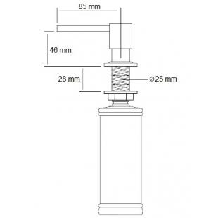 Дозатор жидкого мыла Fabiano FAS-D 41 Antracit