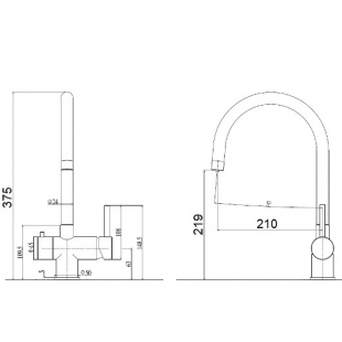 Смеситель кухонный Fabiano FKM 31.5 SS Alpine White