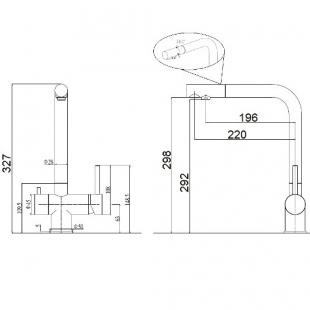 Смеситель кухонный Fabiano FKM 31.7 SS Antracit