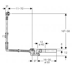 Сифон для ванны Geberit с удлиненным переливом 150.525.21.1