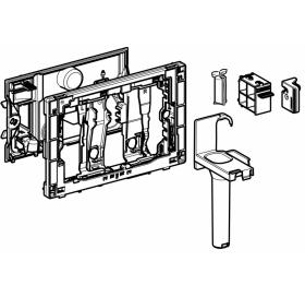 Рамка - вставка для картриджа Geberit DuoFresh, для смывных бачков скрытого монтажа Sigma 12 см: сер