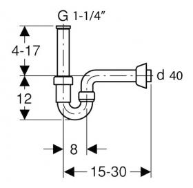 Сифон для раковины Geberit 151.100.11.1 U-образный