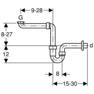 Сифон для раковины Geberit 151.107.11.1 U-образный