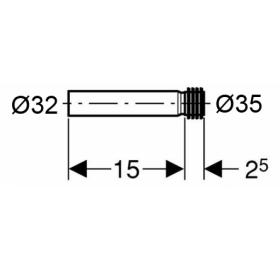 Впускной патрубок для унитаза Geberit, ПЭ 152.489.16.1
