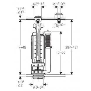 Сливной клапан Geberit 282.303.21.2 Type 290, двойной смыв