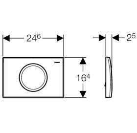 Кнопка смыва Geberit DELTA 11, пластик, хром глянец 115.120.21.1