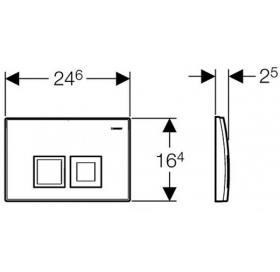 Кнопка смыва Geberit DELTA 50, пластик, хром матовый (115.135.46.1)