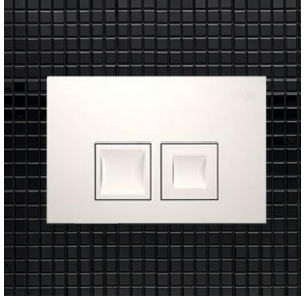 Кнопка смыва Geberit DELTA 50, пластик, белая (115.135.11.1)