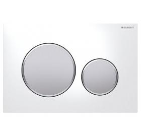 Кнопка смыва Geberit Sigma 20, белый/хром матовый/хром матовый 115.882.KL.1