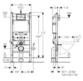 Комплект: DUOFIX монтажный комплект + DELTA 21 смывная клавиша, пластик, хром глянц 458.126.00.1+115