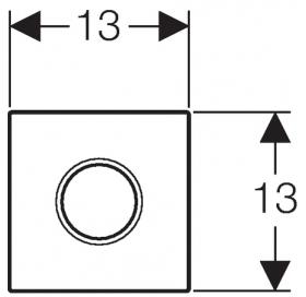 """HyTronic ИК привод смыва для писсуара, 230В, """"Sigma01"""", хром матовый 116.021.46.5"""