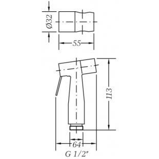Гигиенический душ GENEBRE inox, 100694 60