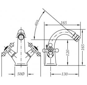 Двухвентильный смеситель для биде GENEBRE NRC, 68516 09 43 66