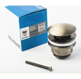 Сливной гарнитур для раковины GENEBRE Luxe bronze click pop-up 1 1/4, 100211 43