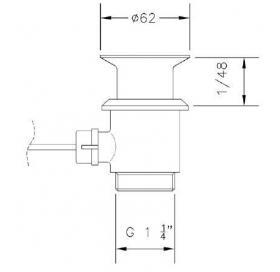 Донный клапан GENEBRE eco, 100200 45