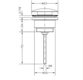Донный клапан LUXE хром CLICK, 100211 45