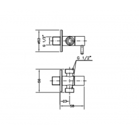 Двойной угловой вентиль GENEBRE, 3107 04