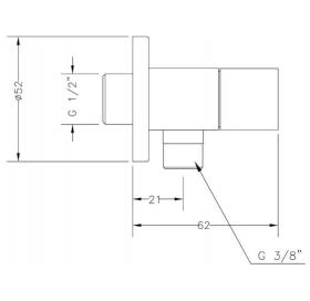 Угловой вентиль GENEBRE Kenjo Angle38 (3106 04)