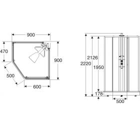 Душевая кабина IDO Showerama Модель 8-5 (90/90), 4985022909