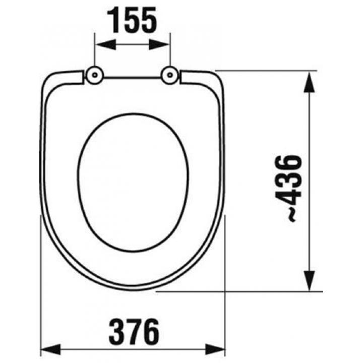 Сиденье с крышкой для унитазов Jika BALTIC / OLYMP, Duroplast, H8932813000631