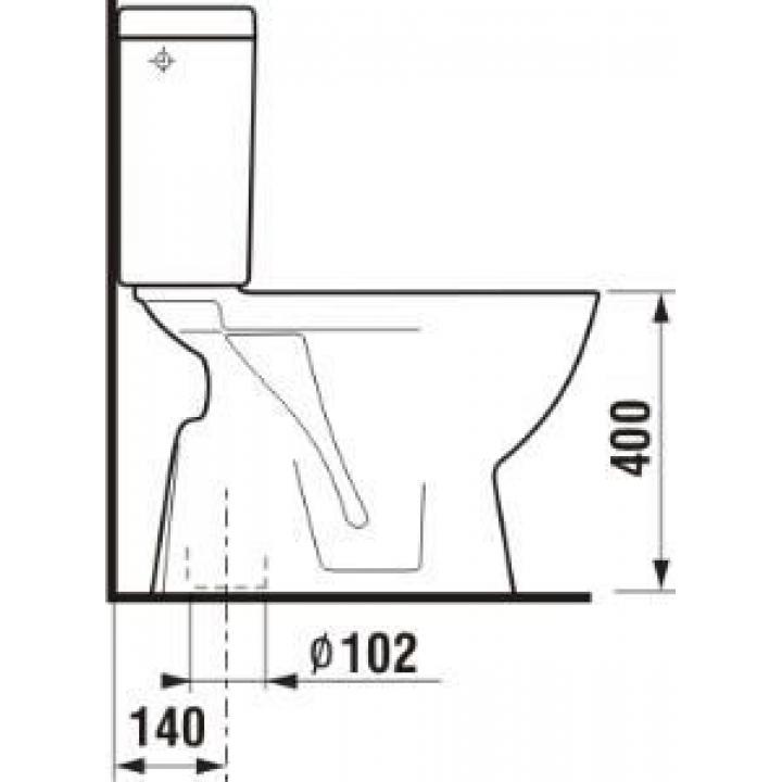 Унитаз-компакт Jika LYRA PLUS, вертикальный выпуск, 3/6 л, H8263870002411