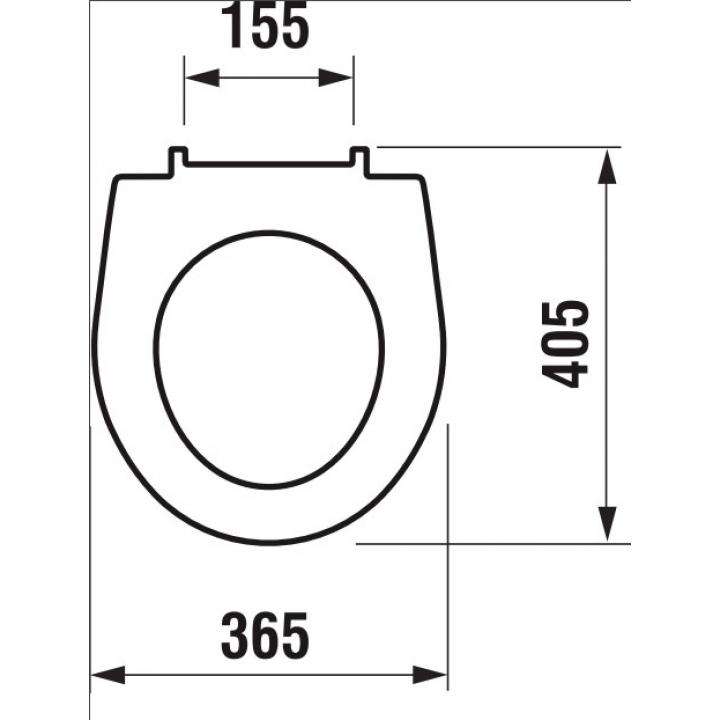 Сиденье с крышкой для унитазов Jika LYRA PLUS, Duroplast, H8933803000631