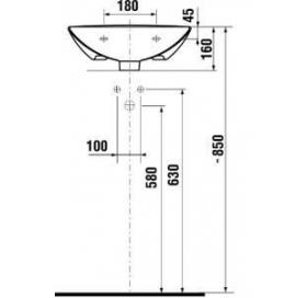 Раковина подвесная Jika MIO, 45 см с отверстием, H8157110001041