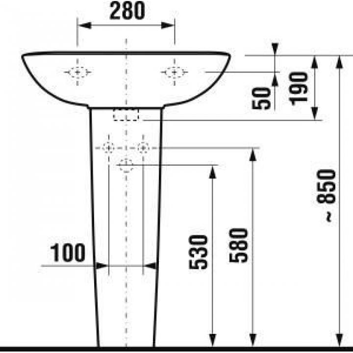 Пьедестал для подвесной раковины Jika OLYMP, H8196100000001