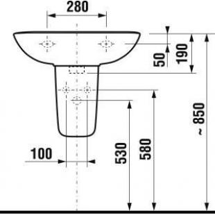 Полупьедестал для подвесной раковины Jika OLYMP, H8196110000001