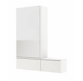 Зеркальный шкафчик Kolo Nova Pro 80 см, левый белый глянец, 88432000