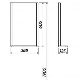 Зеркало Kolo Rekord 38,3х60,5х12,5 с подсветкой, 88417000