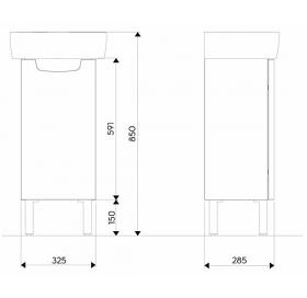 Тумба для раковины Kolo Rekord 32 см, венге, 89542000