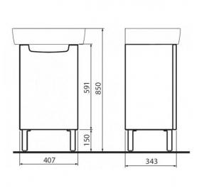 Комплект Kolo Rekord умывальник 50 см + шкафчик белый глянец, K99025000