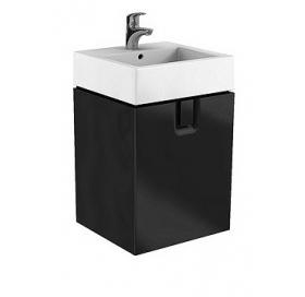 Тумба для раковины Kolo Twins 80 см с одним ящиком, черный матовый, 89552000
