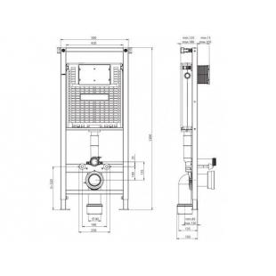 Инсталляция для подвесного унитаза Koller Pool ALCORA ST 1200 в сборе