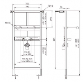 Инсталляционная система KOLLER POOL Alcora ST1100, для раковины, Washbasin Alcora ST1100