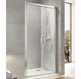 Душевая дверь Koller Pool 90x190 см распашная, стекло grape, ZYI90G