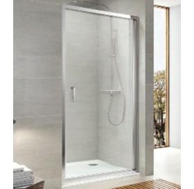 Душевая дверь Koller Pool 90x190 см распашная, стекло grape, ND90G