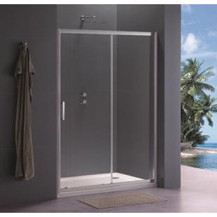 Душевая дверь Koller Pool 120x190 см двухсекционная, стекло grape, TD120G