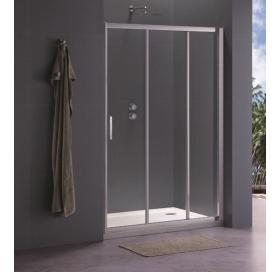 Душевая дверь Koller Pool 90x190 см трехсекционная, стекло grape, TT90G