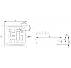 Душевой поддон Koller Pool Aquart 90x90 CF901200E