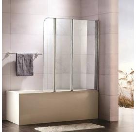 Штора для ванны Koller Pool 107x140 см трехэлементная, стекло, MW3DA