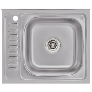 Кухонная мойка Lidz 6050-R Satin 0,6 мм (LIDZ6050R06SAT)