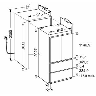 Встраиваемый двухкамерный холодильник Liebherr ECBN 6256