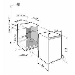 Встраиваемая морозильная камера Liebherr IG 1024